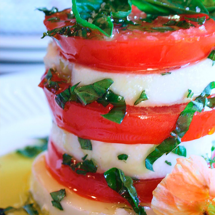 Mozzarella Caprese Tower